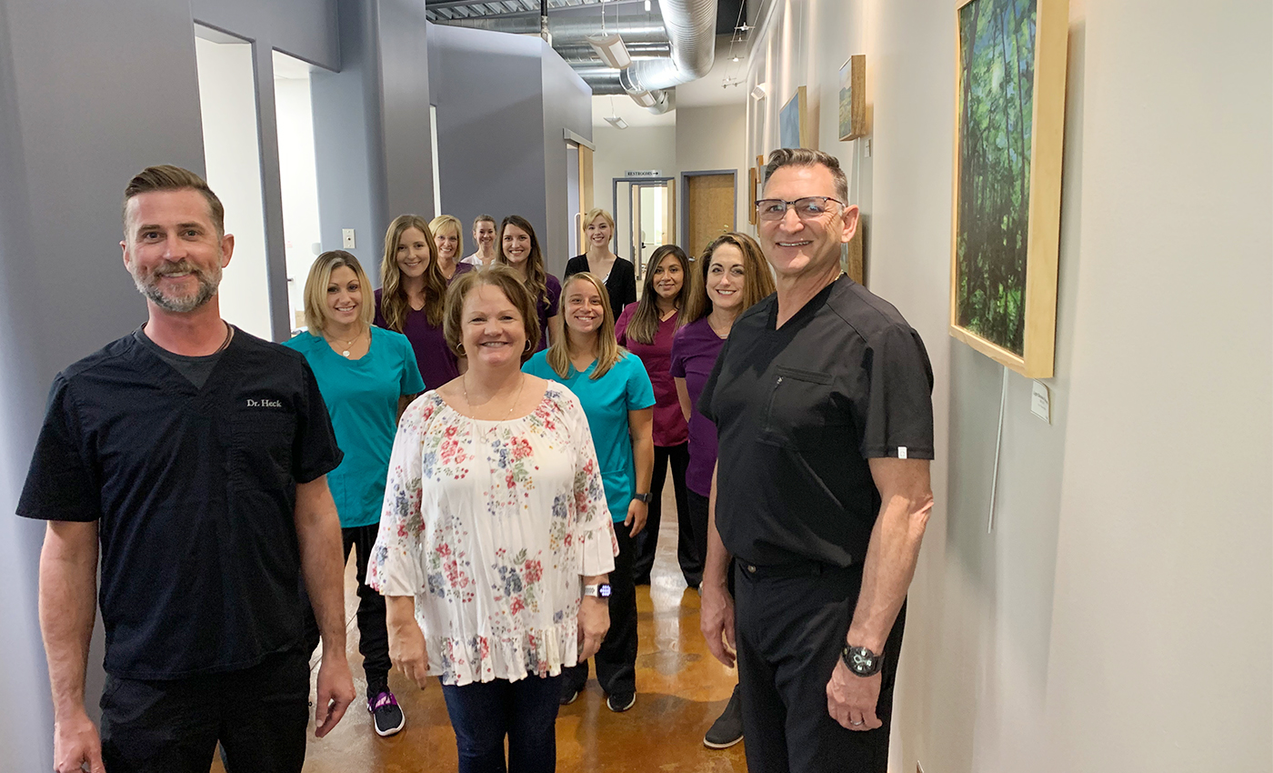 The Heck Family Dentistry of Lawrence team