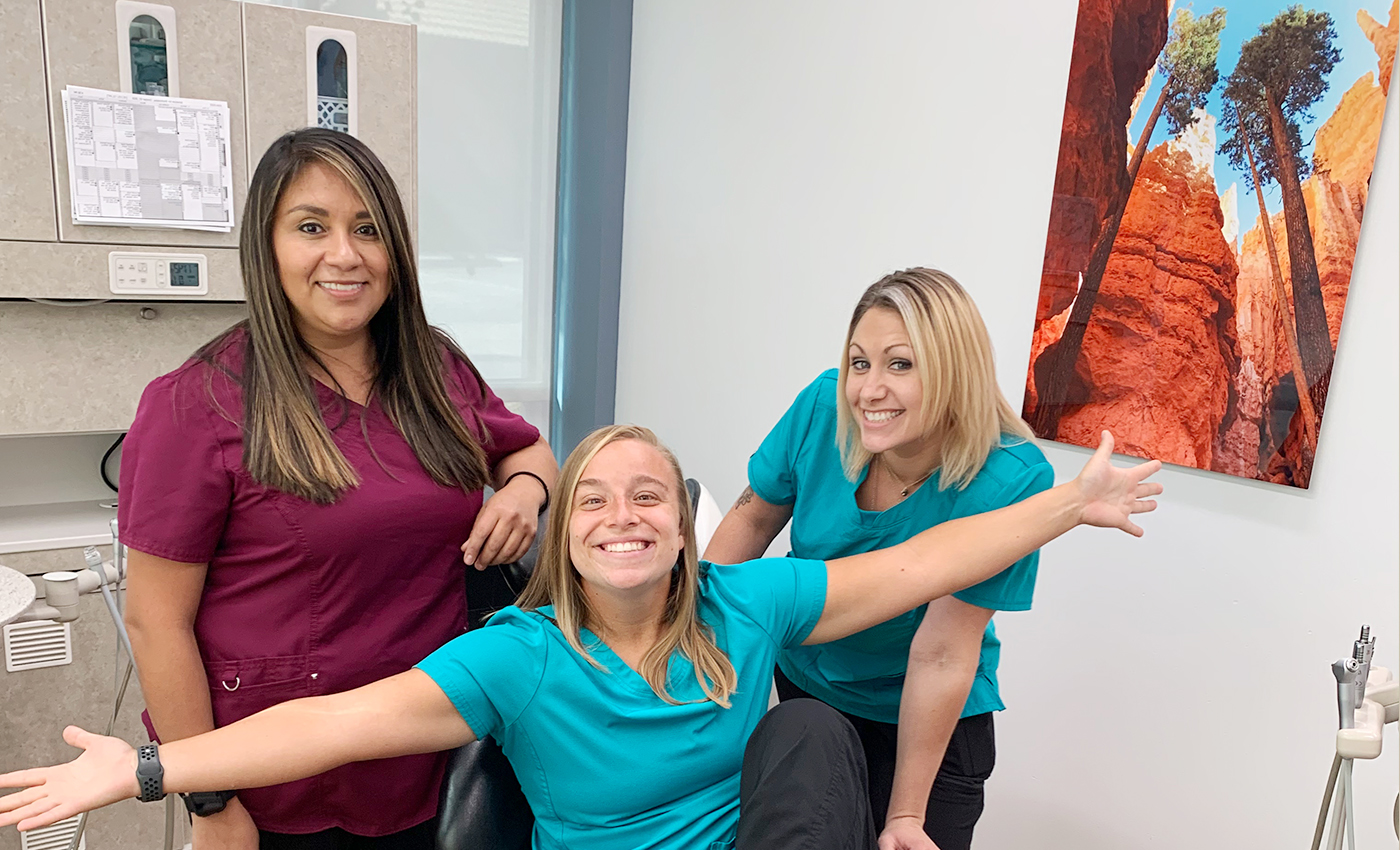 Three Heck Family Dentistry of Lawrence team members